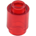 LEGO Transparent Red Brick 1 x 1 Round with Open Stud (3062 / 30068 / 35390)