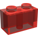 LEGO Transparent Red Brick 1 x 2 (3004)