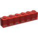 LEGO Transparent Red Brick 1 x 6