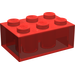 LEGO Transparent Red Brick 2 x 3 (3002)