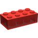 LEGO Transparent Red Brick 2 x 4 (3001)