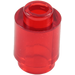 LEGO Transparent Red Brick Round 1 x 1 with Open Stud with Open Stud (3062 / 30068 / 35390)