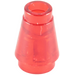 LEGO Transparent Red Cone 1 x 1 with Top Groove (28701 / 64288)
