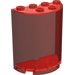 LEGO Transparent Red Cylinder 2 x 4 x 4 (6259)