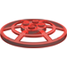 LEGO Transparent Red Dish 6 x 6 Inverted Webbed Type 2 (Squared Holder Underneath) (30234)