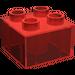LEGO Transparent Red Duplo Brick 2 x 2 (31460)