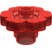 LEGO Transparent Red Flower 2 x 2 with Open Stud (30657)