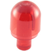 LEGO Transparent Red Light Cover 1 x 1 x 1.667 with Bar (28624 / 58176)