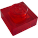 LEGO Transparent Red Plate 1 x 1 (3024 / 28554)