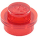 LEGO Transparent Red Plate 1 x 1 Round (6141 / 30057 / 34823)
