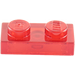 LEGO Transparent Red Plate 1 x 2 (3023 / 6225 / 28653)