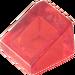 LEGO Transparent Red Slope 1 x 1 (31°) (35338 / 50746)