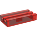 LEGO Transparent Red Tile 1 x 2 with Grille (Undetermined)