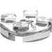 LEGO Transparent Round Plate 2 x 2 with Axle Hole (with '+' Axle Hole) (4032)