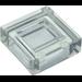 LEGO Transparent Fliese 1 x 1 mit Groove (3070 / 30039)