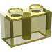 LEGO Transparent Yellow Brick 1 x 2 (3004)