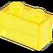 LEGO Transparent Yellow Brick 1 x 2 without Bottom Tube (3065 / 35743)