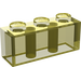 LEGO Transparent Yellow Brick 1 x 3 (3622)