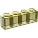 LEGO Transparent Yellow Brick 1 x 4