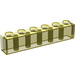 LEGO Transparent Yellow Brick 1 x 6