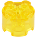 LEGO Transparent Yellow Brick 2 x 2 Round (6116)