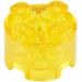 LEGO Transparent Yellow Brick 2 x 2 Round (6116 / 39223)