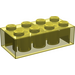 LEGO Transparent Yellow Brick 2 x 4 (3001)