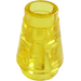 LEGO Transparent Yellow Cone 1 x 1 with Top Groove (28701 / 64288)