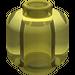LEGO Transparent Yellow Plain Head (Recessed Solid Stud) (3626)