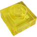 LEGO Transparent Yellow Plate 1 x 1 (3024 / 28554)