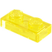 LEGO Transparent Yellow Plate 1 x 2 (3023 / 28653)