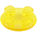 LEGO Transparent Yellow Plate 2 x 2 Round with Rounded Bottom (2654 / 28558)
