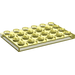 LEGO Transparent Yellow Plate 4 x 6