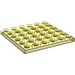 LEGO Transparent Yellow Plate 6 x 6