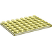 LEGO Transparent Yellow Plate 6 x 8 (3036)