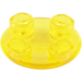 LEGO Transparent Yellow Round Plate 2 x 2 with Rounded Bottom (2654 / 54196)