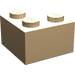 LEGO Very Light Orange Brick 2 x 2 Corner (2357)