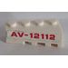 LEGO Wedge 2 x 4 Left with 'AV-12112' Sticker (41768)