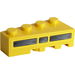 LEGO Wedge 2 x 4 Left with Black and Yellow Vent Sticker (41768)