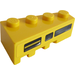 LEGO Wedge 2 x 4 Right with Black and Yellow Vent Sticker (41767)