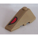 LEGO Wedge 2 x 4 Triple Left with Red and Black Eye Sticker (43710)