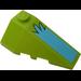 LEGO Wedge 2 x 4 Triple Right with Medium Azure Pattern Sticker (43711)