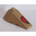 LEGO Wedge 2 x 4 Triple Right with Red and Black Eye Sticker (43711)