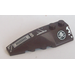 LEGO Wedge 2 x 6 Double Left with Alien Skull in Black Circle, Vents, Rivets and Frost Pattern Sticker (41748)