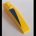 LEGO Wedge 2 x 6 Double Left with Dark Blue Triangle Sticker (41748)