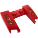 LEGO Wedge 3 x 4 x 0.6 with Cutout with Flames Sticker (11291)