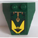 LEGO Wedge 4 x 4 Triple with Gold Hydraulic Cylinder Pattern Sticker with Stud Notches (48933)