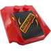 """LEGO Wedge 4 x 4 x 0.66 Curved with """"AIRBORNE Spoilers"""" and Flames Sticker (45677)"""