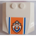 LEGO Wedge 4 x 4 x 0.66 Curved with Blue Lines and Coast Guard Logo Sticker (45677)