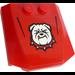 LEGO Wedge 4 x 4 x 0.66 Curved with Bulldog Head Sticker (45677)